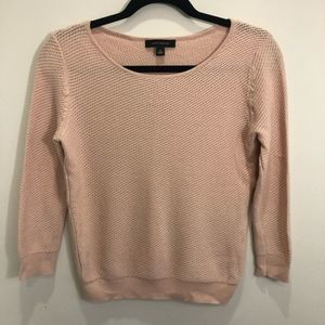 Ann Taylor Blush Pink Scoop Neck Sweater Small